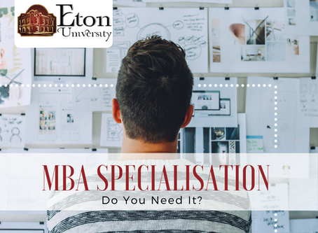 MBA Specialisation – Do You Need It?