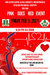 EPO  Pink Goes Red Day Poster - Heart Ra