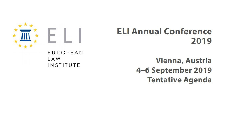 European Law Institute, Annual Conference