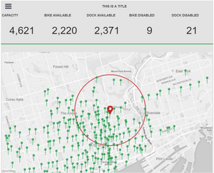 Tableau Coverage Map Using Concentric Circles and Real Radius on