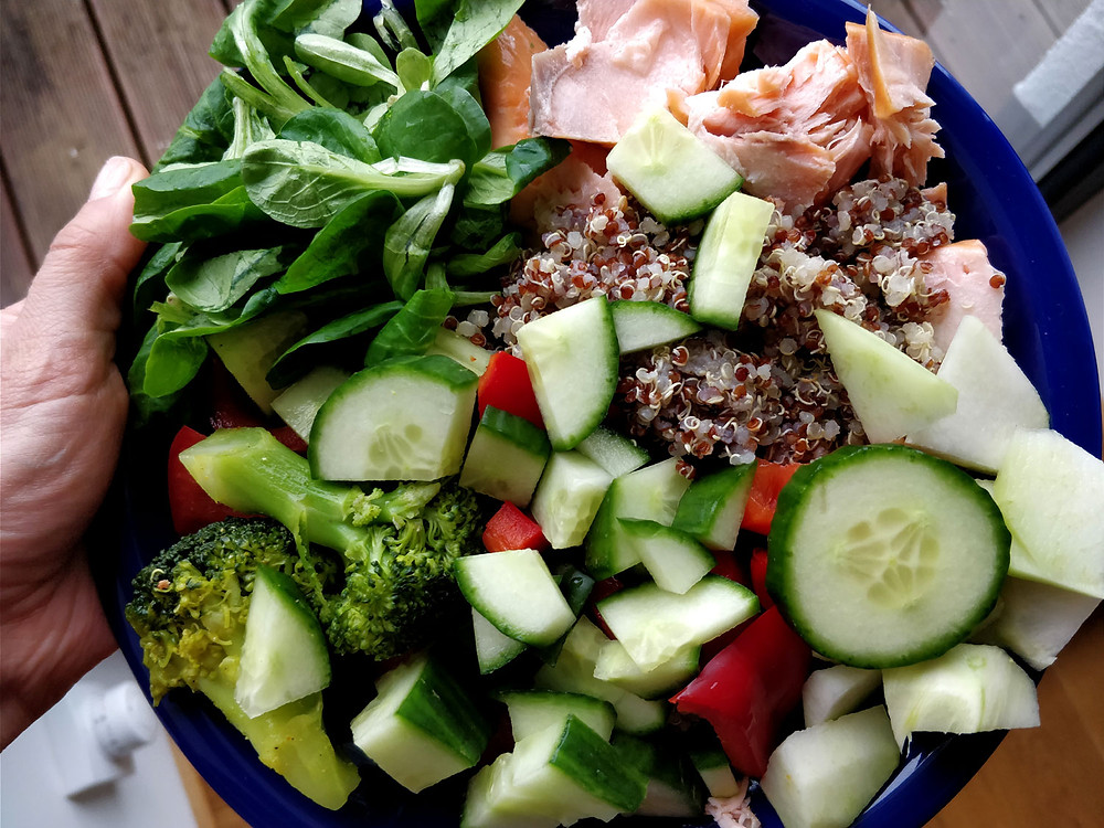 Personal trainer food diary, dinner