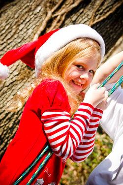 Close-up Holiday Portrait