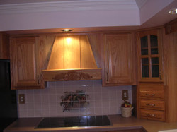 Custom Oak Hood Range