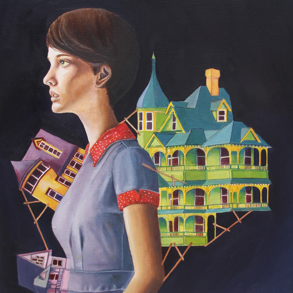 Women with houses