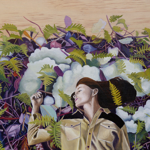 Women in ferns