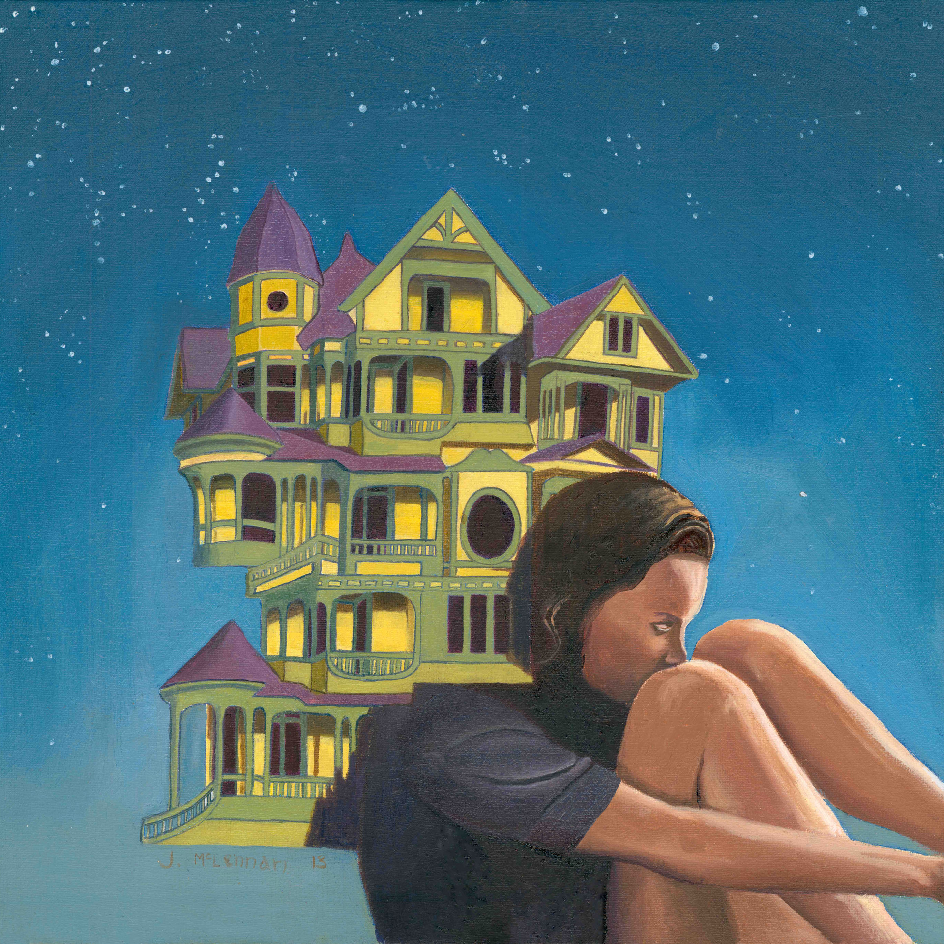 Women with house and stars