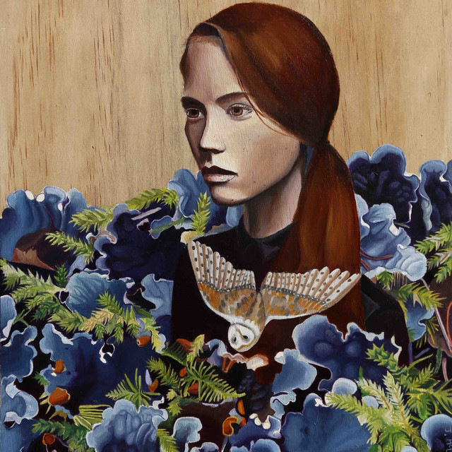 Women with ferns and oil