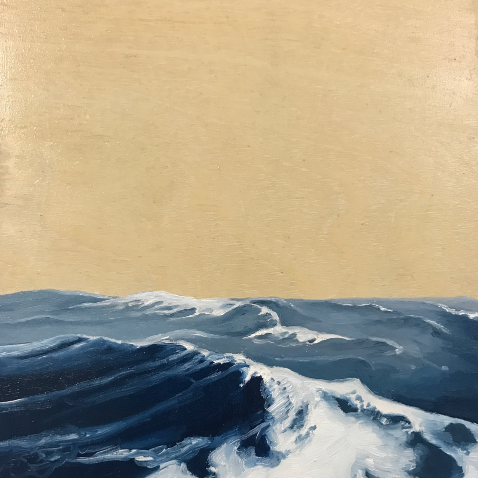 The ocean - Oil on board