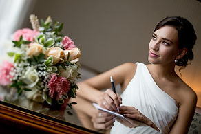 Caucasian Indoor Bride Writing (0.3MB).j