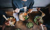 chilli chicken ramen|edamame|grilled duc