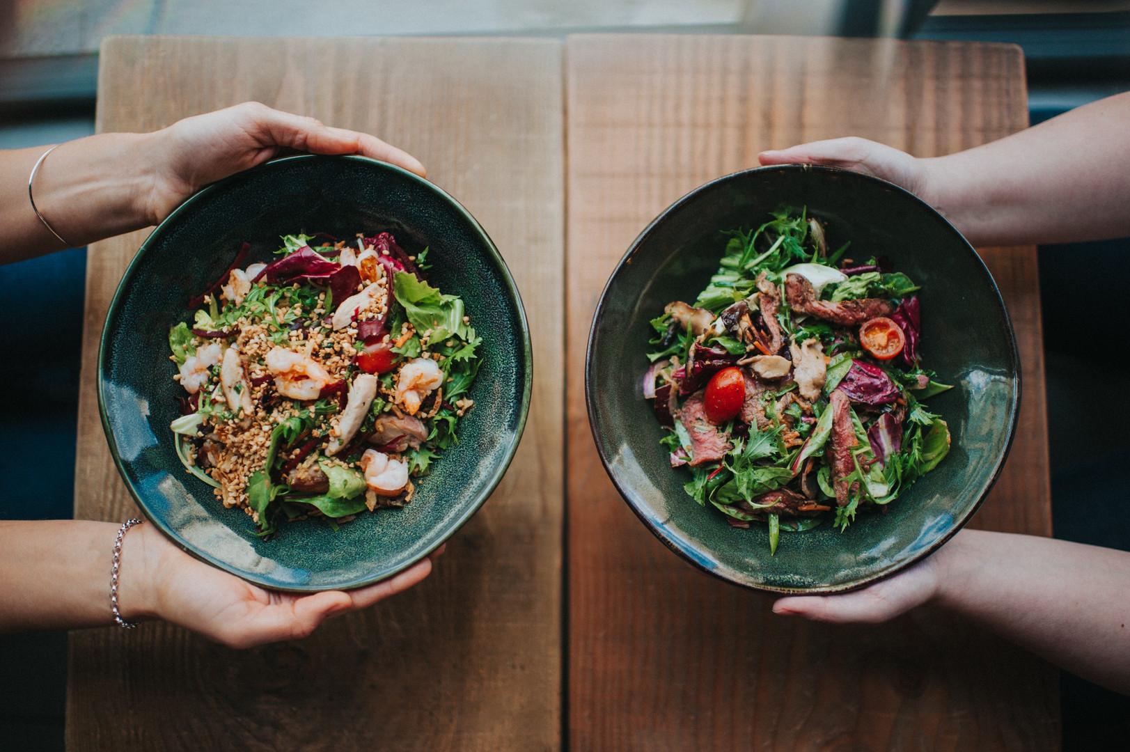 pad thai salad + sirloin and shiitake sa