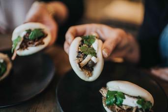 mixed mushroom buns + korean beef buns.j