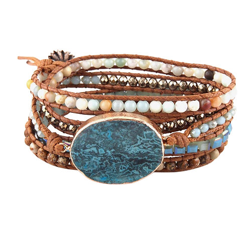Vegan Natural Stone Wrap Bracelet
