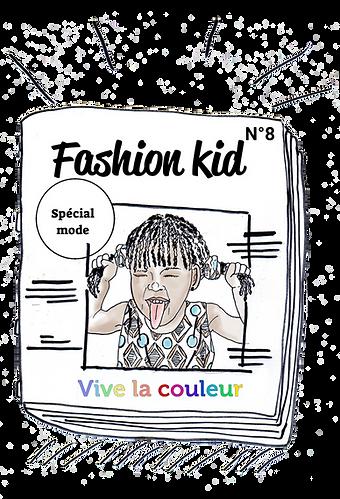 illustration de magazine de mode enfant avec une fifi brin d'acier afro qui grimace. parution presse de la marque Koh Mabby