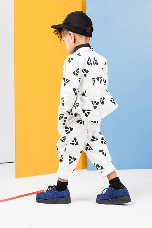 Pantalon toile imprimé