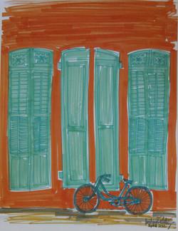 One Blue Bike