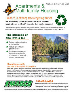 AB341 Compliance - Apartments & Multi-family Housing