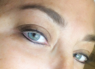 Tattooed Eyeliner on top and bottom eyelid