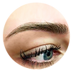 natural microbladed brows