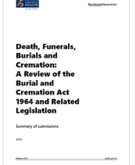 A refresh of the Burial and Cremation Act 1964