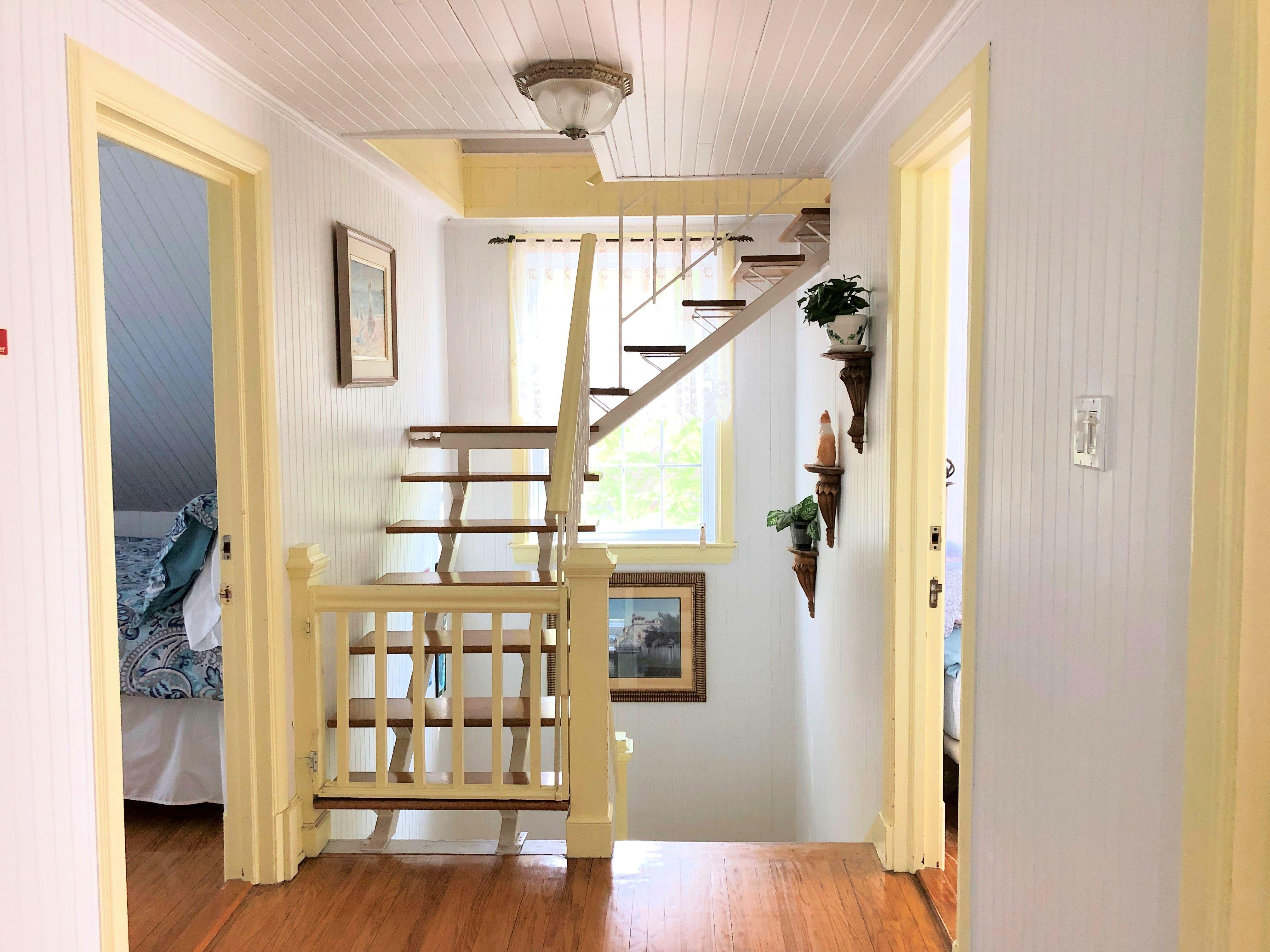 L'escalier menant au grenier