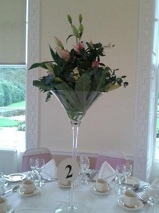 Floral Martini Glass