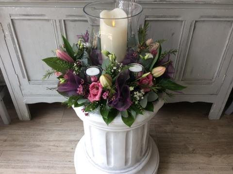 Candle/Posy table arrangement
