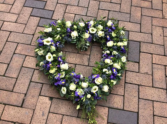 Large Heart Funeral Wreath