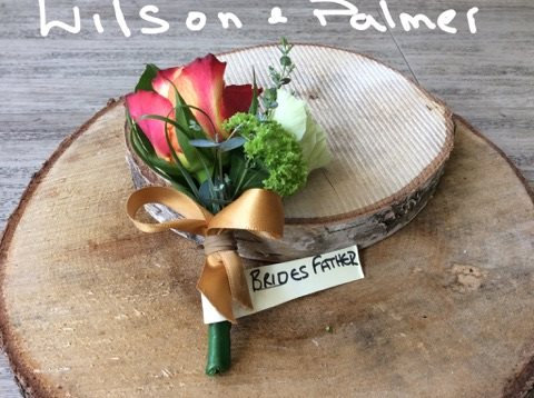 Father of the Brides Buttonhole