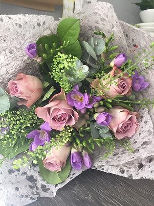 Roses, lavender & fresias