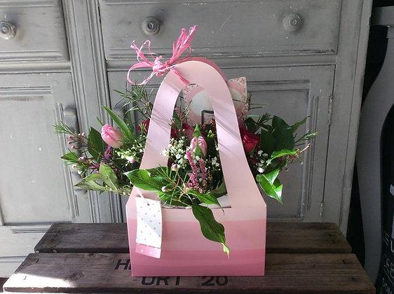 Spring floral Gift bag