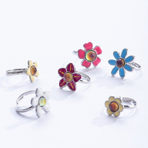 Flower Bead Mood Ring | Geocentral
