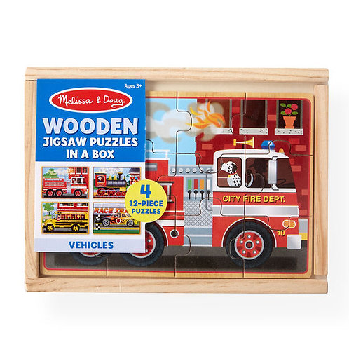 Vehicles Wooden Puzzle in a Box