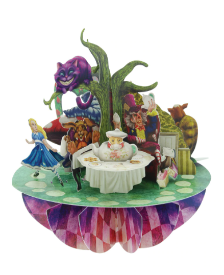 Alice in Wonderland 3-D Pirouettes Pop-Up Card | Santoro London