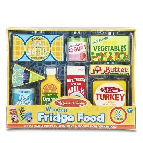 Wooden Fridge Food Playset