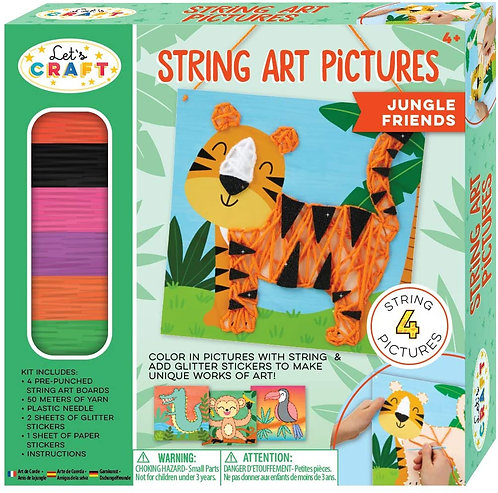 String Art Pictures - Jungle | Bright Stripes