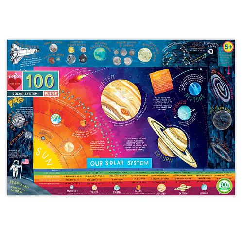 Eeboo Solar System 100 Pc Puzzle