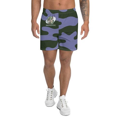 Men's Athletic Long Shorts Purple Camo