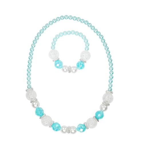 Snow Princess Necklace & Bracelet Set | Pink Poppy