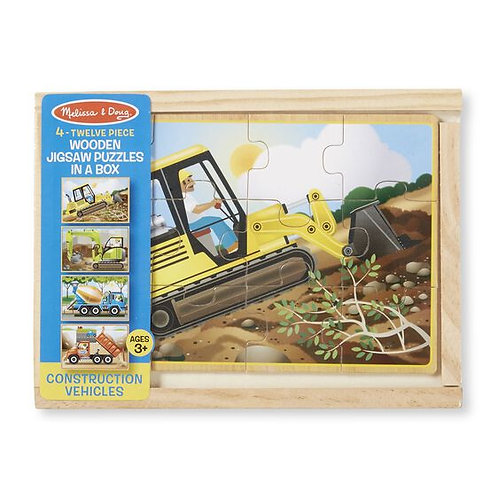 Construction Vehicles Puzzle in a Box