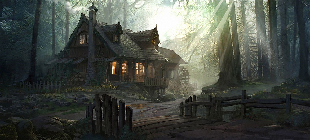 Spooky House in woods