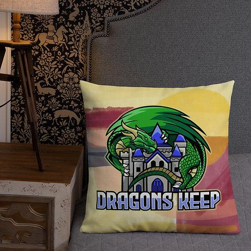 Sunset Premium Pillow (Mascot Logo) - Soft & Linen Texture