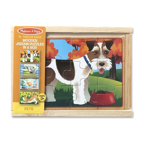 Pets Wooden Puzzle in a Box