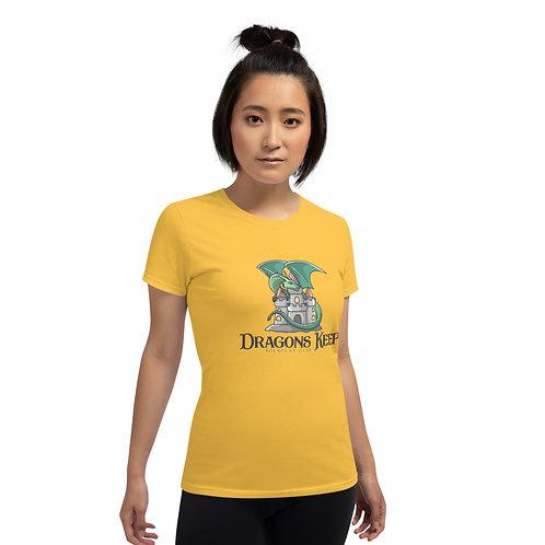 Women's Gildan 5000 T-shirt (Cute Logo) - Heavyweight & Straight Fit