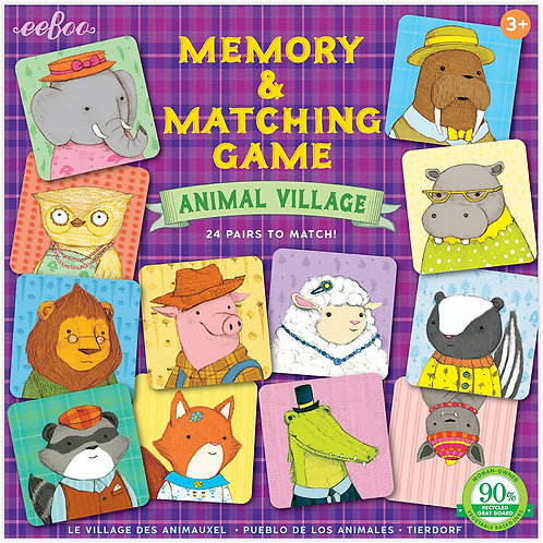 Memory & Matching Game - Animal Village | Eeboo