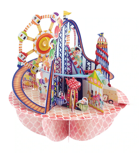 Fairgrounds 3-D Pirouettes Pop-Up Card   Santoro London