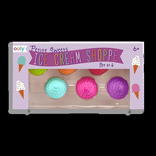 Petite Sweet Shoppe Ice Cream Shaped Vanilla Scented Erasers