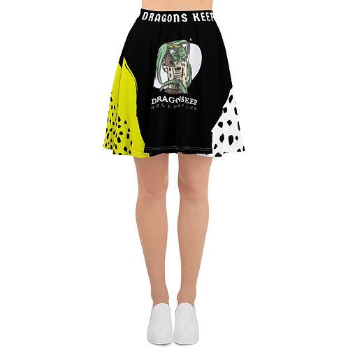 Skater Skirt Black Leopard