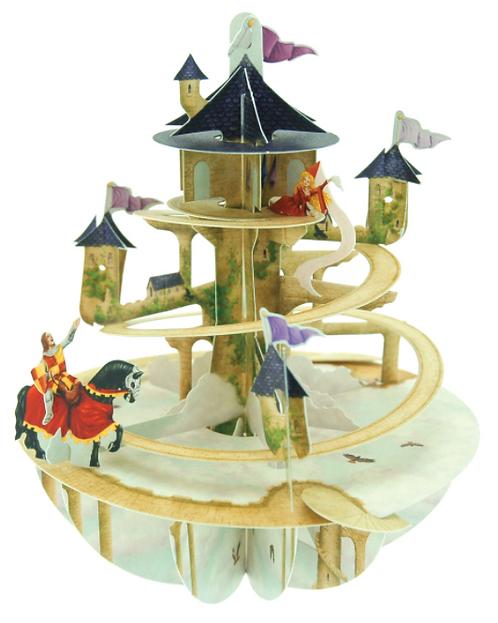 Princess Tower 3-D Pirouettes Pop Up Card | Santoro London