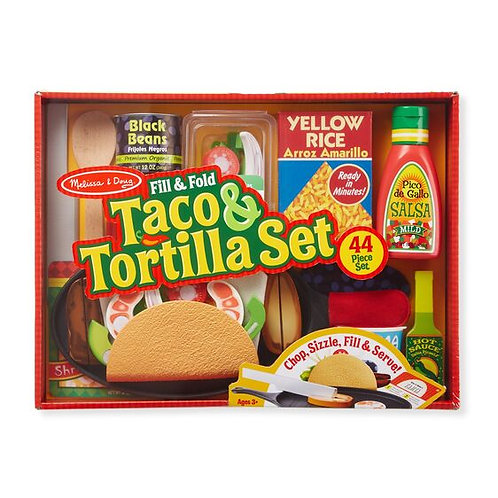 Fill & Fold Taco & Tortilla Wooden Playset